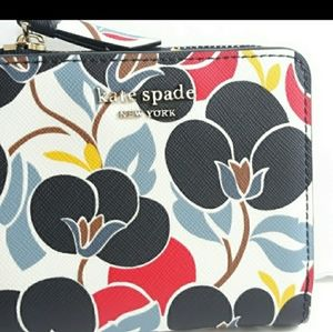 AUTHENTIC Kate Spade small bifold wallet floral